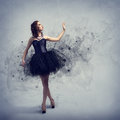 Woman dancing young for her abstract background Stock Photo