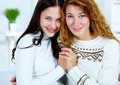 Woman with daughter Royalty Free Stock Photos