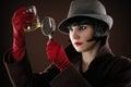 Woman detective examines Royalty Free Stock Photo