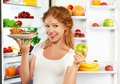 Woman On  Diet To Choose Betwe...