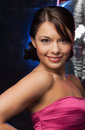 Woman with disco ball Stock Photos