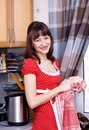 Woman doing dishes Royalty Free Stock Photo