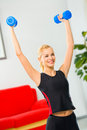 Woman doing fitness exercises Stock Image