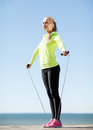 Woman doing sports outdoors fitness and lifestyle concept Royalty Free Stock Photo