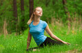 Woman doing yoga meditation Royalty Free Stock Photos