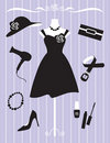 Woman Dress and Accessories Royalty Free Stock Photo