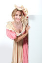Woman dressed in period gown summer Royalty Free Stock Image