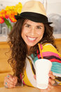 Woman Drinking Beverage Royalty Free Stock Photo