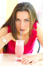 Woman drinking cocktail Royalty Free Stock Photo