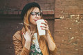 Woman drinking coffee Royalty Free Stock Photo
