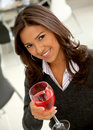 Woman drinking wine Royalty Free Stock Photo