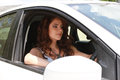 Woman driving car Royalty Free Stock Photo