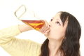 Woman drunk too much Royalty Free Stock Photo