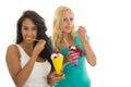 Woman eating ice cream Royalty Free Stock Photo