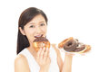 Woman eating sweets Royalty Free Stock Photo