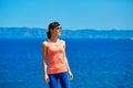 Woman enjoying freedom on travel Royalty Free Stock Photo