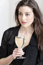 Woman enjoying a glass of wine Royalty Free Stock Photo