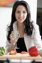 Woman enjoying a glass of wine Royalty Free Stock Photo
