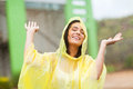 Woman enjoying rain Royalty Free Stock Image