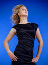 Woman in evening dress Royalty Free Stock Photography