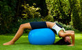 Woman with exercise ball Stock Photos