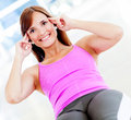 Woman exercising at the gym Royalty Free Stock Photo