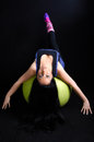 Woman Exercising on Pilates Ball Royalty Free Stock Photo