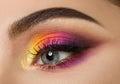 Woman Eye With Beautiful Colou...