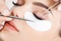 Woman eye with long eyelashes eyelash extension Royalty Free Stock Photo