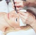 Woman eye with long eyelashes eyelash extension Stock Photography