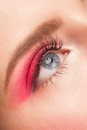 Woman eye with makeup Stock Image