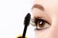Woman eye with mascara isolated Stock Photos