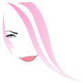 Woman face beautiful girl in pink illustration Royalty Free Stock Photo