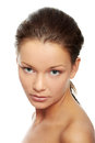 Woman face with clean skin Royalty Free Stock Images