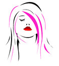 Woman face women illustration suitable for a logo designing projects Royalty Free Stock Image
