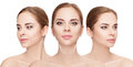 Woman Faces With Arrows Over W...