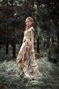 Žena v víla les