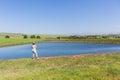 Woman Farm Dam Holidays