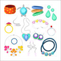 Woman Fashion Accessories Set with Rings and Jewelry