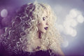 Woman Fashion Beauty Portrait, Model Girl Hairstyle, Blond Hair Royalty Free Stock Photo