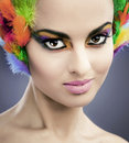 image photo : Woman with feathers in hair