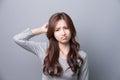 A Woman feel headache Royalty Free Stock Photo