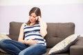 Woman feeling sad during pregnancy