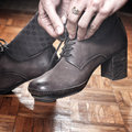 Woman feet in high heels Royalty Free Stock Photos
