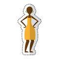 Woman figure african icon