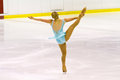 Woman figure skater Royalty Free Stock Photo