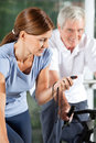 Woman in fitness center stopping Royalty Free Stock Image