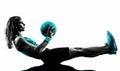 Woman Fitness Medicine Ball Ex...