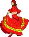 Woman  Flamenco dancer Stock Photo