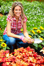 Woman florist Stock Photo